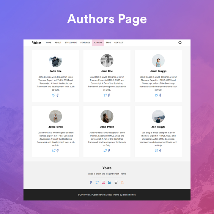 Voice Ghost authors page