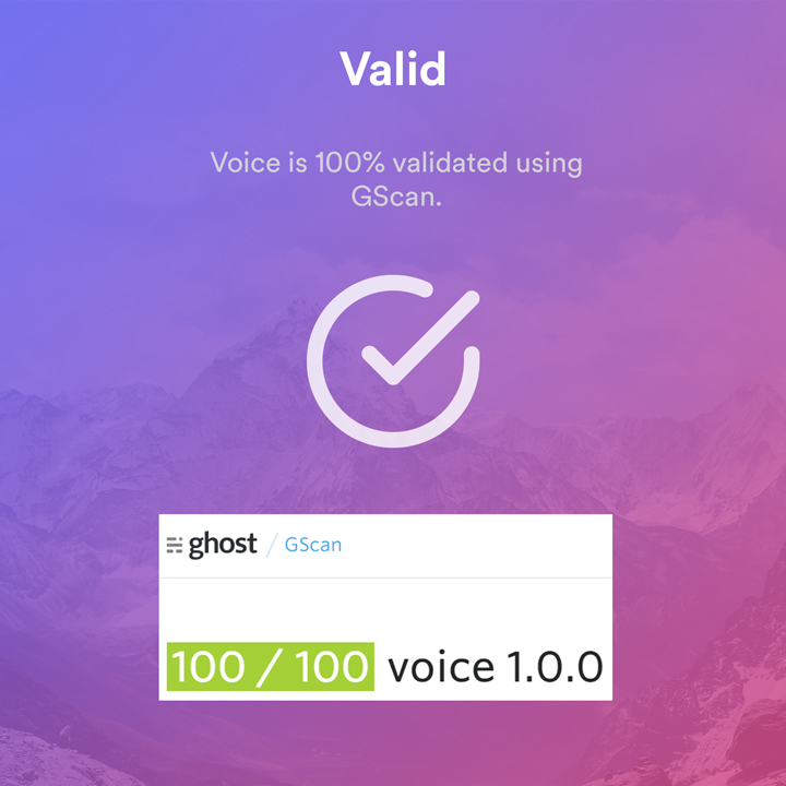 Voice Ghost valid